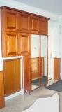 Előszoba falburkolat és szekrény - Tölgyfa előszoba szekrény
