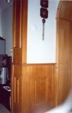 Előszoba falburkolat és szekrény - Falborítás boltívvel